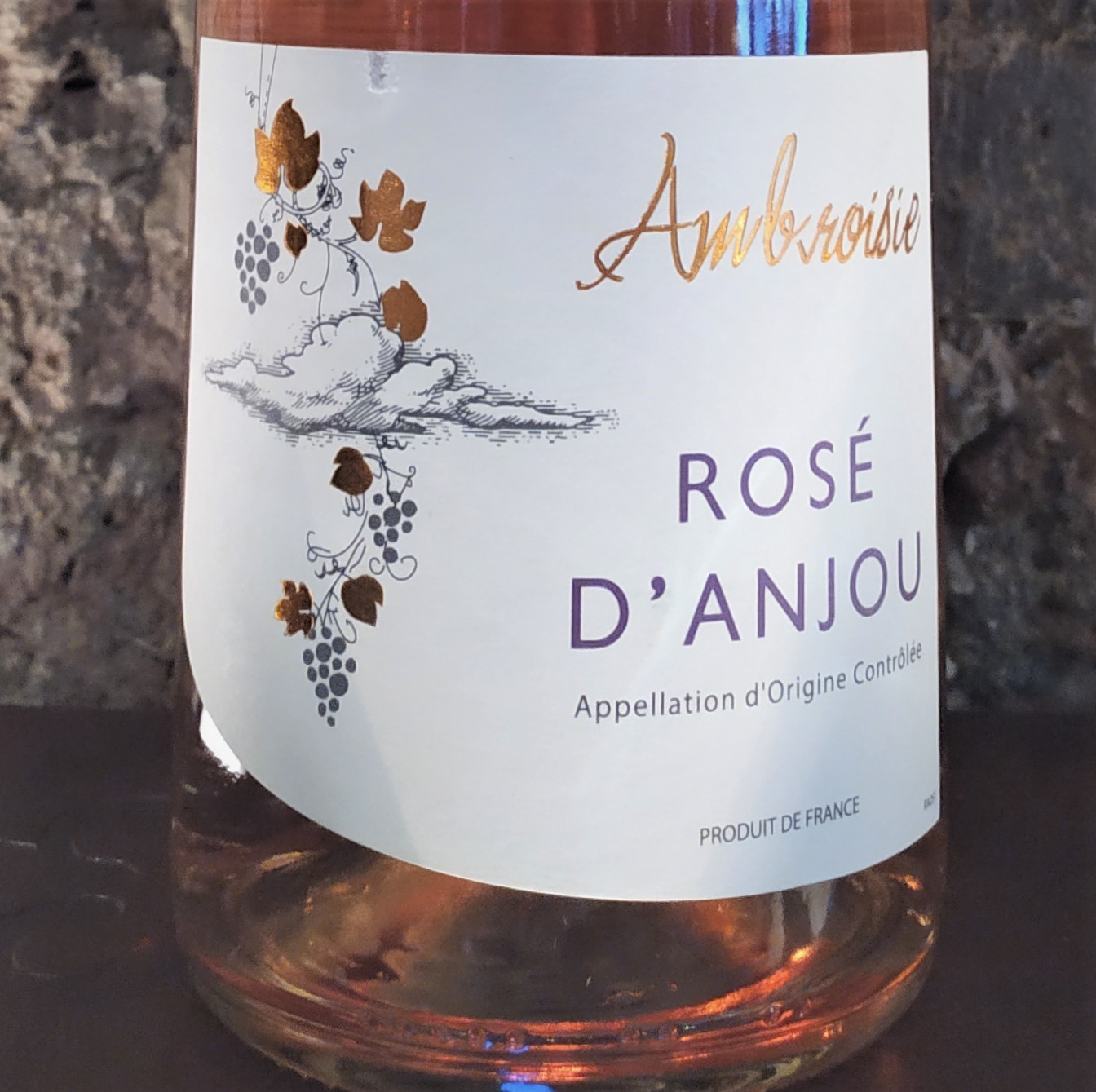 Ambroise, Rose' D'Anjou, France 2019 (Off Dry)